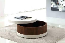 creative round coffee table with storage small wood side s brass and glass coffee table