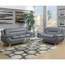 Gray leather living room furniture Loveseat Quickview Black Gray Wayfair Grey Leather Living Room Sets Youll Love Wayfair