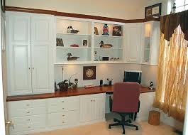 home office cabinetry design. Painted Wood/Stain Wood Home Office Cabinetry Design