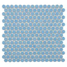 light blue bathroom tiles. Merola Tile Hudson Penny Round Light Blue 12 In. X 12-5/8 Bathroom Tiles