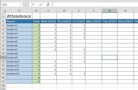 How To Create A Basic Attendance Sheet In Excel Microsoft