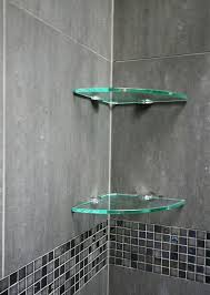 bathroom glass shelves shower solution in prepare 15