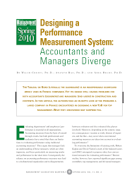 Designing Accounting Support System Pdf Designing A Performance Measurement System