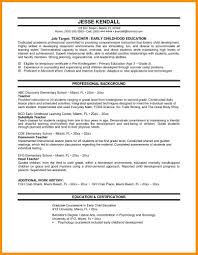 Template Sample Teaching Resume Cover Letter Elementary Teacher