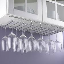 wall mount wine glass rack best of large under cabinet stemware rack wine enthusiast hanging preparing