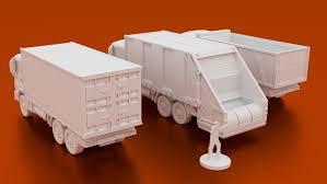 Truck & trailer worldtruck & trailer worldtruck & trailer world. Urban Flatbed Truck 3d Printable Terrain 28mm Corvus Games Terrain