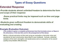 Example Of A Response Essay Restricted Response Essay Question