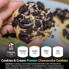 cookies cream protein cheesecake cookies