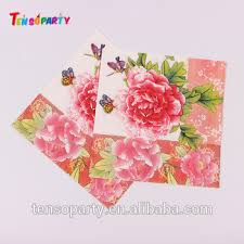 Flower Printed Paper Custom Flower Printed Paper Napkin Flower Rose Embossed Dinner Napkin Printed Fancy Flower Print Paper Napkin Buy Dinner Napkin Paper