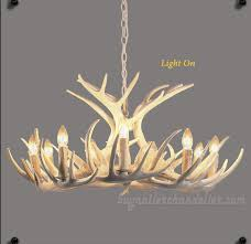 12 cast white deer antler chandelier nine ceiling lights two tiers cascade candelabra pendant lighting