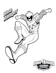 Coloring Pages Power Rangers Free Dino Charge Acnee