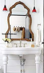 Large French Country Farmhouse Arched Wood Mirror Entry Foyer Bathroom Vanity Doesno Country Bathroom Decor French Country Bathroom Farmhouse Bathroom Mirrors
