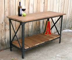 wood and wrought iron furniture. Wood Metal Industrial Rustic Console Table Accent Liquor Cart Kitchen Island And Wrought Iron Furniture O