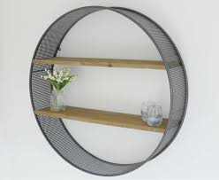 RETRO INDUSTRIAL WALL SHELVES ROUND UNIT ...