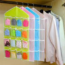 <b>2018 New Qualified</b> Storage Box 16 Pockets Clear Home Hanging ...