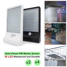 2 4pcs 36 led solar wall lights pir motion sensor garden lighting outdoor lamp 1 of 12free see more