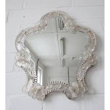 mirror rosettes. vintage wall mirror venetian murano glass with rosettes vanity