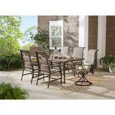 hampton bay glass patio dining sets