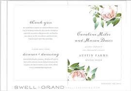 Editable Fall Wedding Program Template Autumn Flowers Day Of