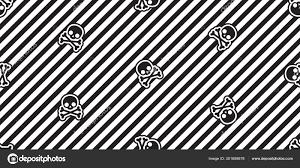 Design Repeat Wallpaper Symbols Skull Pirate Crossbones Seamless Pattern Halloween Stripes