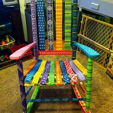 whimsical painted furnitureHand painted furniture funky  garden  Pinterest  Paint