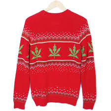 Urban Outfitters 8-Bit Weed Sweater Tacky Ugly Christmas Sweater ...