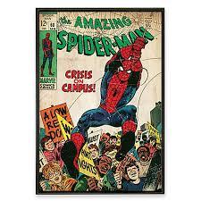 marvel comic book wall art