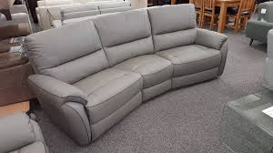 mbmegabargains scs teo leather 4 seater curved sofa
