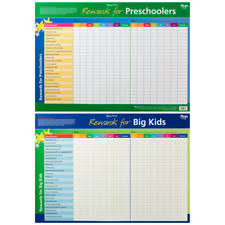 Officeworks Reward Chart Rewards For Preschoolers And Big Kids Educational Chart By Gillian Miles Wallchart 2009