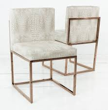 556 00 dimensions 19 wide 32 tall 20 5 deep 007 dining chair with rose gold frame