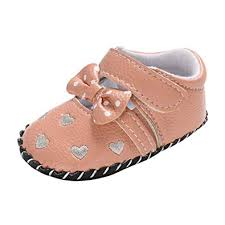 Infant Baby Girls Shoes For Kids Toddler Soft Sole Love Bow