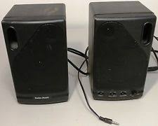 speakers radio shack. radio shack - 40-1361 battery powered amplified stereo speaker system -un tested speakers k