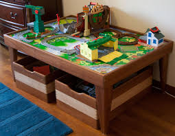 diy kids train table sets plans free