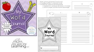 Lined Word Journal For Spelling Vocabulary