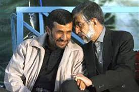 Image result for ‫حداد عادل احمدی نژاد‬‎