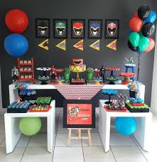 Superb Power Ranger Room Decor Best Birthday Images On A Twin Party Bedroom Ideas