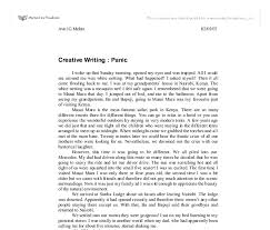 creative writing panic gcse english marked by teachers com document image preview