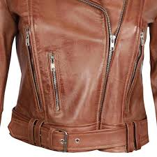 women s brown distressed jacket