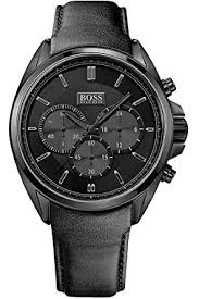 hugo boss hb1513061 watch men quartz chronograph black hugo boss hb1513061 watch men quartz chronograph black dial black leather