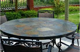 slate tile dining room table tile dining table round top slate outdoor stone patio sets tile dining table