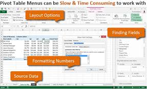 Sample Data For Pivot Table Pivotpal A Fast New Way To Work With Pivot Tables Excel Campus