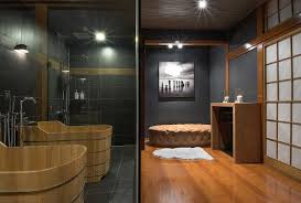 Japanese Style Bathroom Catchy Japanese Modern Style Bathroom With Black Tiles And White