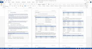 Document Template Word Database Design Document Ms Word Template Ms Excel Data