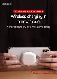 Đế sạc nhanh không dây mini chuẩn Qi Baseus hít vào mặt lưng điện thoại -  Hàng chính hãng