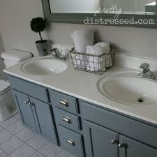 painted bathroom cabinets ideas. bathroom oak vanity makeover with latex paint, ideas, painted furniture cabinets ideas e