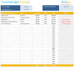 vacation budget planner travel budget template budget calculator dotxes