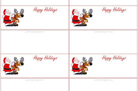 Template For Place Cards Free Christmas Place Cards Template Awesome 7 Best Of Printable