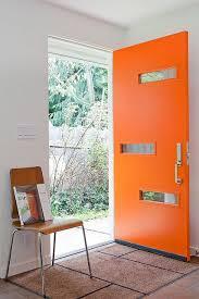 modern front door orange. Crestview Door - Burbank Orange Modern Front Pinterest
