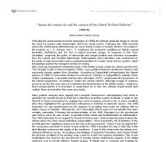 for liberal reforms essay reasons for liberal reforms essay