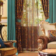 Blackout Velvet Curtains Blue Spliced Curtain(No Valance)